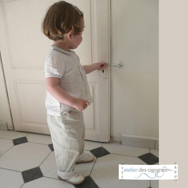 Patron couture Bébé - Pantalon doublé, à revers