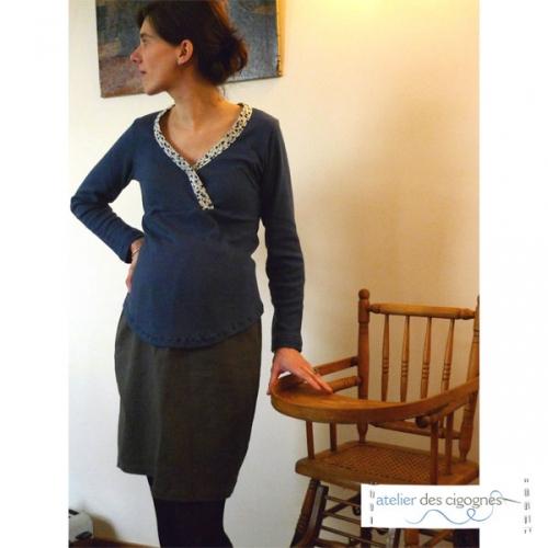 Patron couture grossesse - Jupe de grossesse