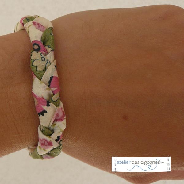 Tutoriel de couture - Bracelet Liberty tressé