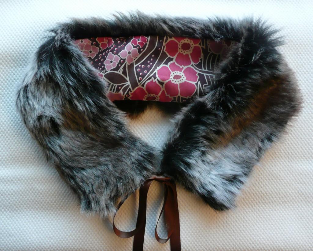 Tutoriel de couture - Col fourrure et tissu Liberty