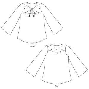 Blouse Thétis - Patron couture Femme - Patron couture blouse