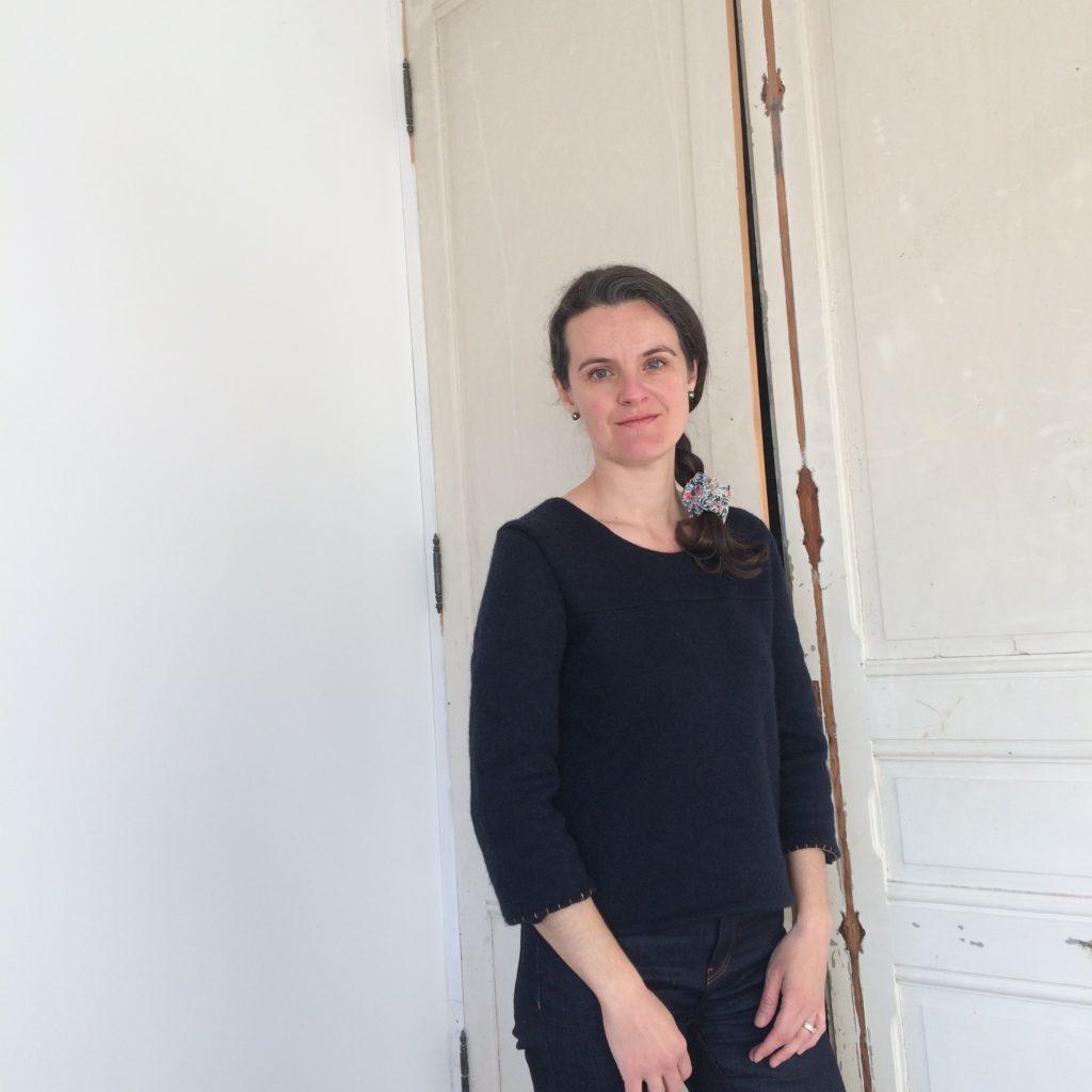 """Patron couture Pull Inssbruck d'après livre de couture """"Ma garde-robe de grossesse"""""""